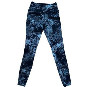 Nike Dri Fit Legendary Women's Tights - Black and Gray Print Tights - X-SMALL